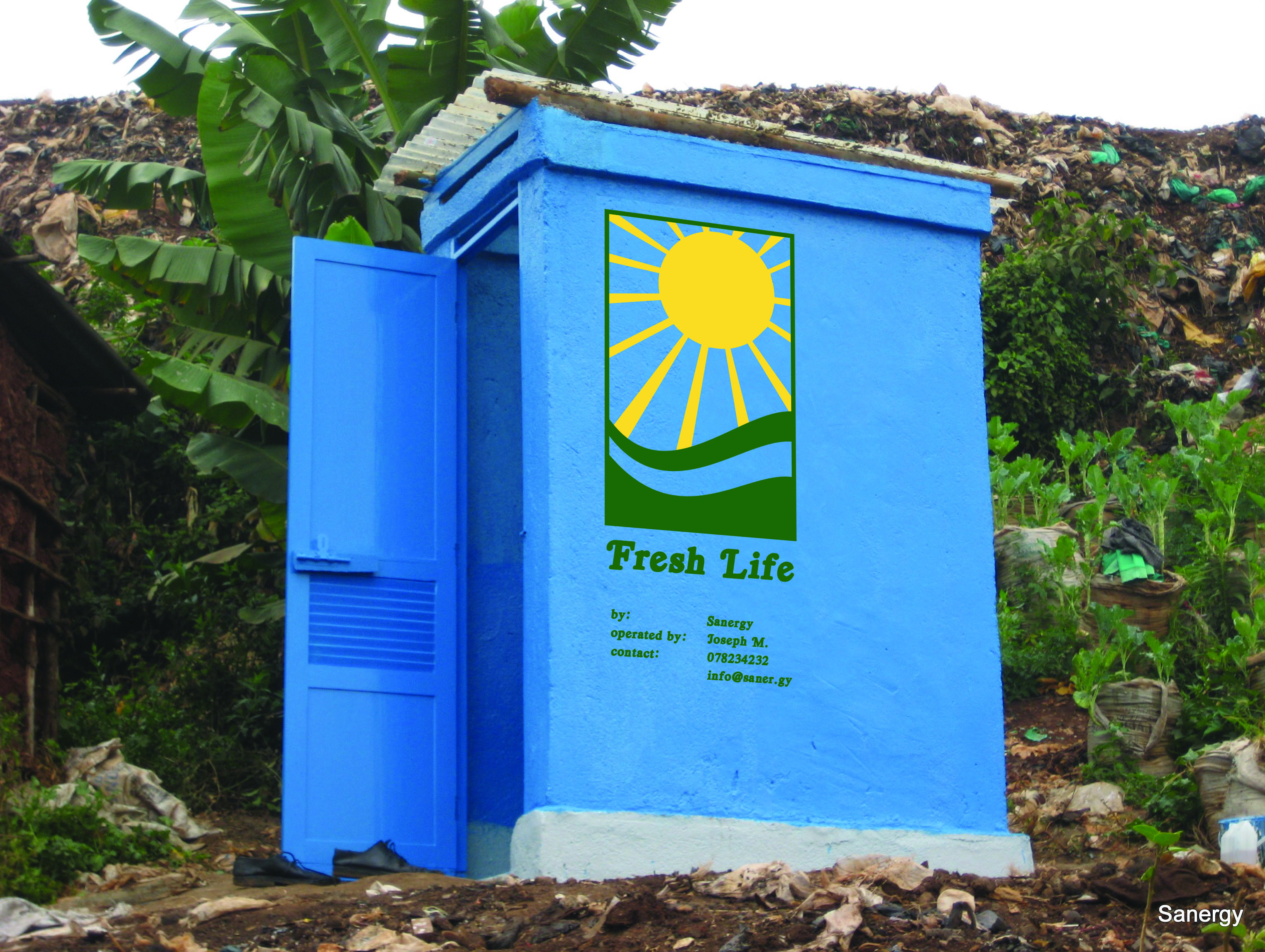 The Fresh Life toilet made by Kenya-based company Sanergy . title=