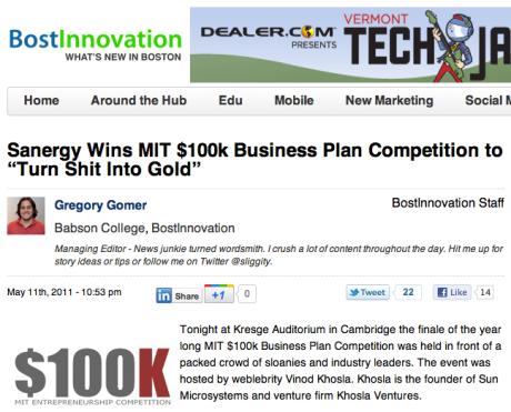 Sanergy on Boston Innovation