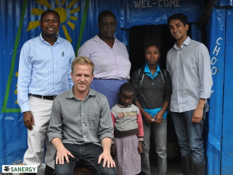 The Kiva team and Florence, Sanergy Field Officer paid a visit to Sanergy Fresh Life Operator Margaret and her granddaughter.